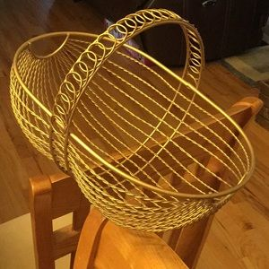 Brass Color Metal Basket 15x10x9 good decoration